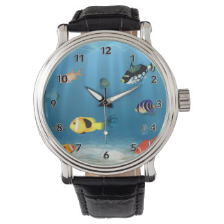 Relógio Oceanos dos peixes