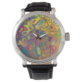Relógio Óleos psicadélicos