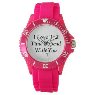 """Relógio Olhe dizer, """"eu amo o tempo onde eu passo com"""