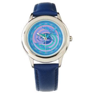 Relógio Ondas de circundamento do design das cores pastel