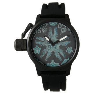 Relógio Ophiodea na turquesa e no preto