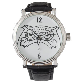 Relógio Original minimalista legal do esboço artístico