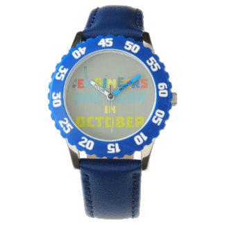 Relógio Os engenheiros são em outubro Z3zoj nascidos
