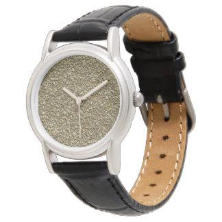 Relógio ouro de pedra irregular