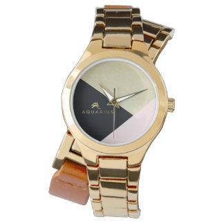 Relógio Ouro feito sob encomenda do zodíaco do Aquário