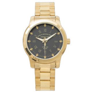 Relógio Ouro preto comemorativo da aposentadoria feita sob