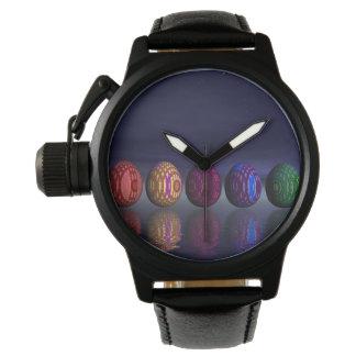 Relógio Ovos coloridos para a páscoa - 3D rendem