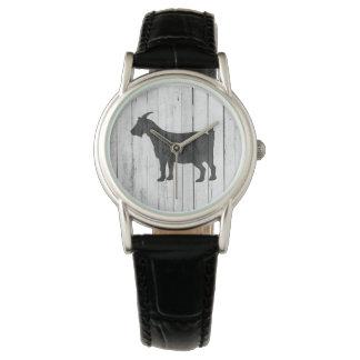 Relógio Painel rústico da madeira da cabra do país