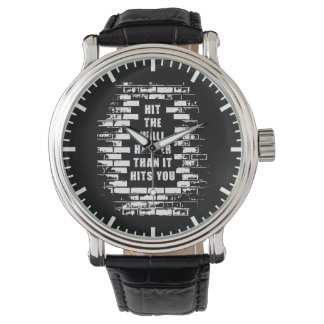 Relógio Palavras inspiradas - bata a parede mais duramente