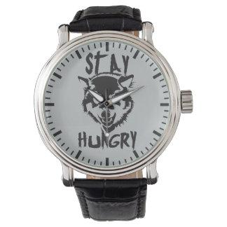 Relógio Palavras inspiradores - estada com fome
