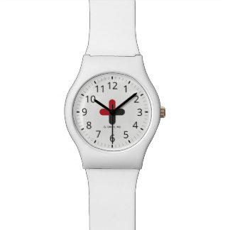 Relógio Para doutores & enfermeiras. Cruz médica