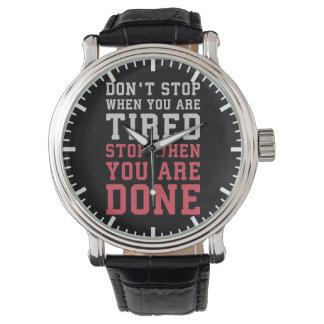 Relógio Pare quando você é feito - Gym inspirado