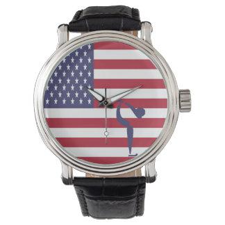 Relógio Patinagem artística EUA da equipe