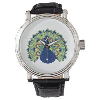 Relógio Pavão da mandala