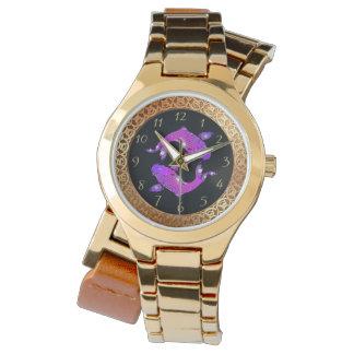 Relógio Peixe dourado japonês do koi na lagoa Yin e Yang 3