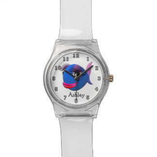 Relógio Peixes engraçados bonitos dos desenhos animados
