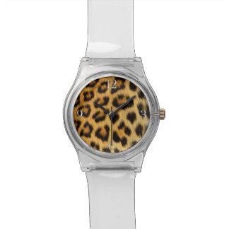 Relógio Pele do falso dos animais selvagens de África do