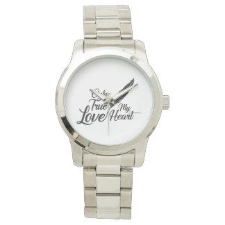 Relógio Pena verdadeira do amor da ilustração