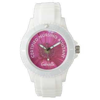 Relógio personalizado de C.N.A. Cor-de-rosa