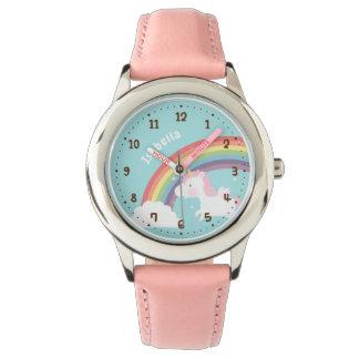 Relógio personalizado do unicórnio do vôo
