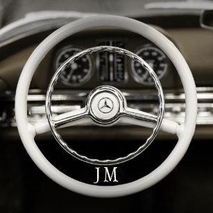 1bbafa0224b Relógio personalizado do volante do carro vintage
