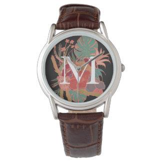 Relógio personalizado floral do vintage de Boho do
