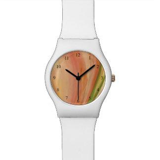 Relógio Pêssego delicado