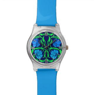 Relógio Pimpernel, azuis cobaltos e verde de William