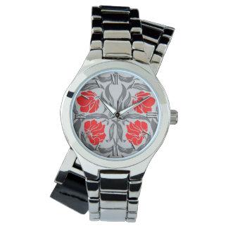 Relógio Pimpernel de William Morris, cinzas de prata e