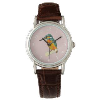 Relógio Pintura da aguarela do pássaro do martinho