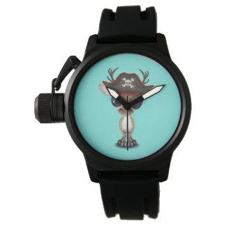 Relógio Pirata bonito da rena do bebê