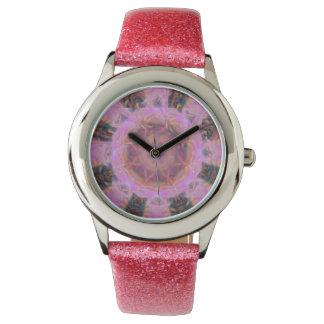 Relógio Poder cor-de-rosa