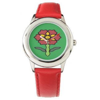 Relógio Poinsétia bonito