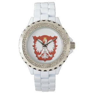 Relógio polonês do protetor de Eagle