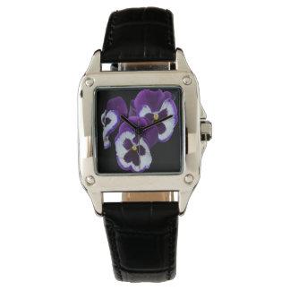 Relógio Posy roxo do amor perfeito,