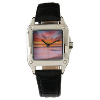 Relógio Praia | Carlsbad de Tamarack do por do sol, CA