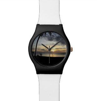 Relógio Praia do por do sol