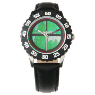 Relógio Preto de aço inoxidável da moldura numerado