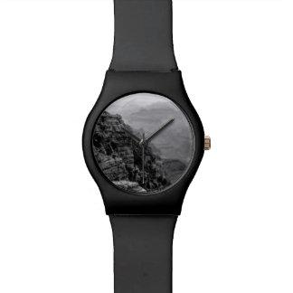 Relógio preto e branco do Grand Canyon