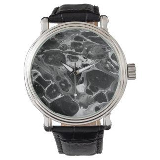 Relógio Preto Funky & branco