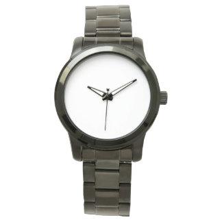 Relógio preto unisex desproporcionado do bracelete