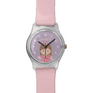 Relógio Princesa bonito e doce Menina Personalized