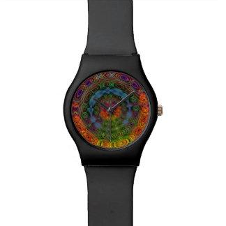 Relógio psicadélico Groovy