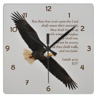 Relógio Quadrado 40:31 mas eles de Isaiah essa espera em cima do