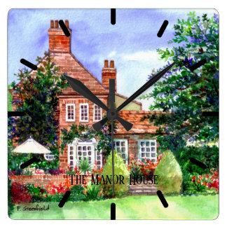 Relógio Quadrado A casa senhorial, Heslington, York