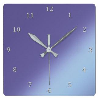 Relógio Quadrado A diagonal da orquídea azul protege números das