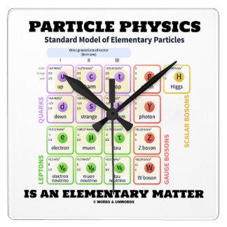 Relógio Quadrado A física de partícula é um modelo elementar da