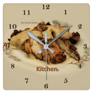 Relógio Quadrado A galinha do empurrão oferece a vara ou os dedos