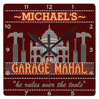 Relógio Quadrado A garagem engraçada Mahal da caverna do homem