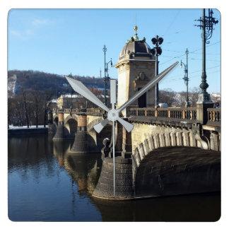 Relógio Quadrado A ponte da legião, pulso de disparo de Praga